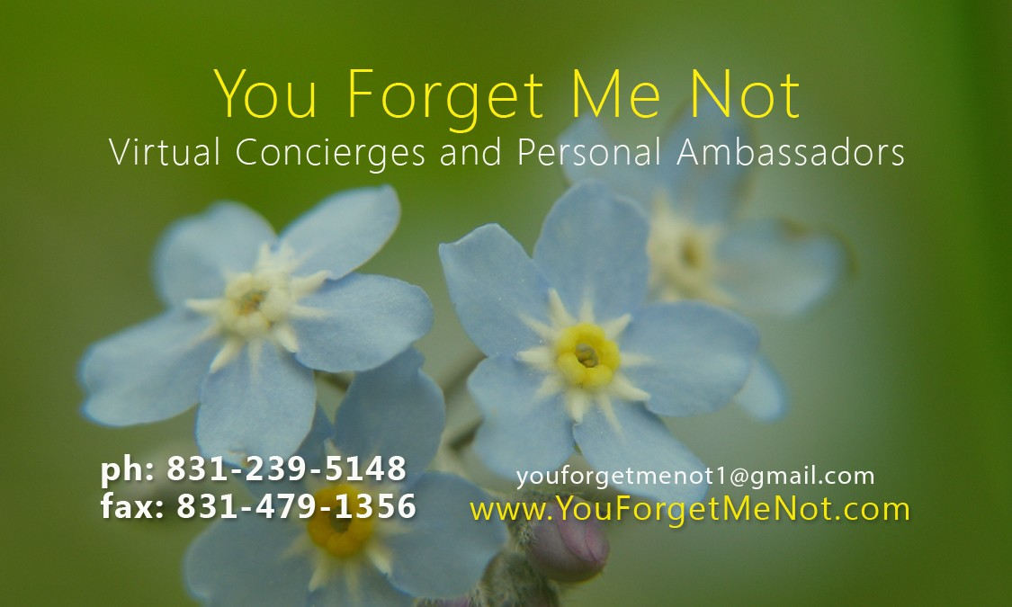 You Forget Me Not Virtual Concierges & Personal Ambassadors